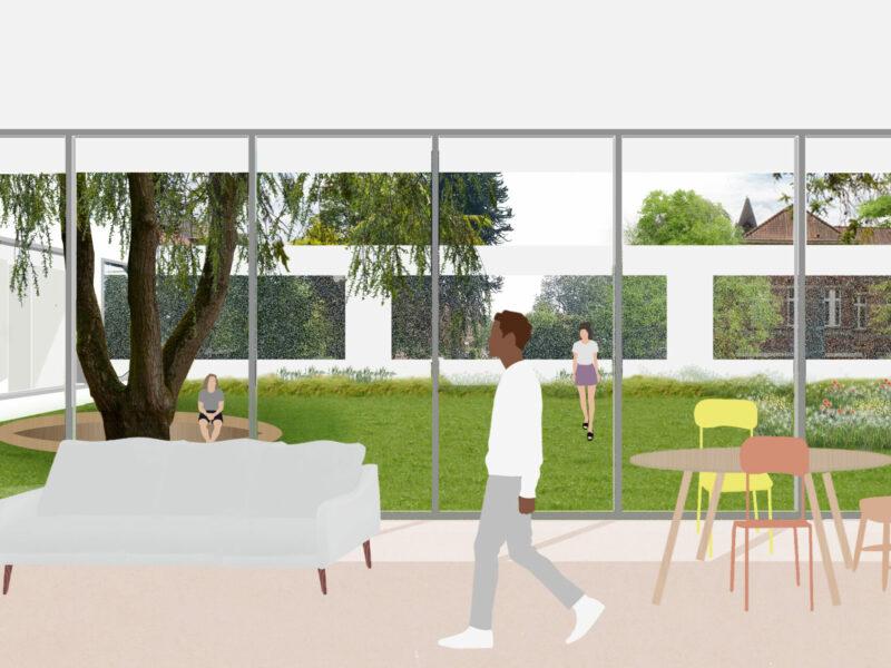 Schetsontwerp HIC afdeling KARUS, Stéphane Beel Architects